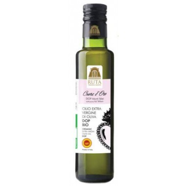 """Olio Extravergine d'oliva """"Cuore d'Oro"""" Dop Bio Monti Iblei 0,50l. - Frantoio Ruta"""