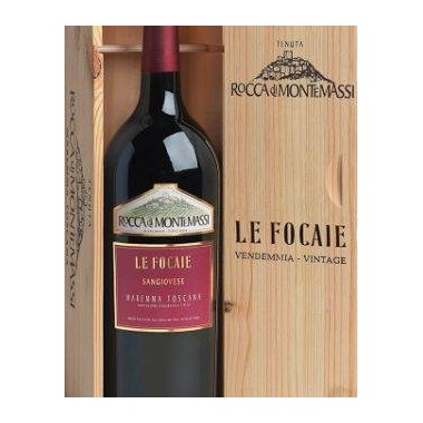 Le Focaie Maremma Toscana D.O.C - Rocca di Montemassi - Db. Magnum in original wooden box.