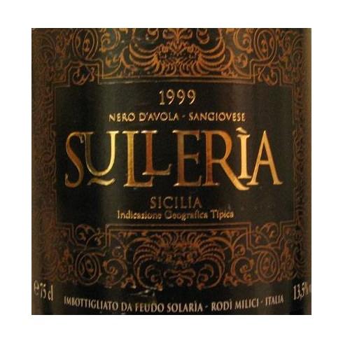 Sullerìa 1999 - Sicilia IGT - Feudo Solarìa