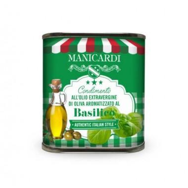 Condimento all'Olio Extra Vergine di Oliva aromatizzato al Basilico - Manicardi